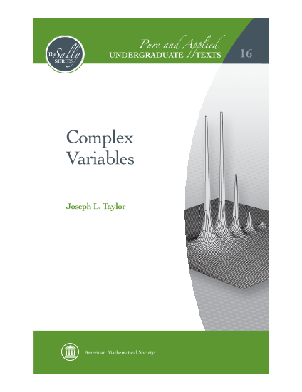 Complex Variables cover image