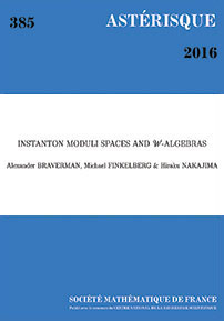 Instanton Moduli Spaces and $\mathcal{W}$-Algebras cover image