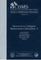 Research in Collegiate Mathematics Education. V