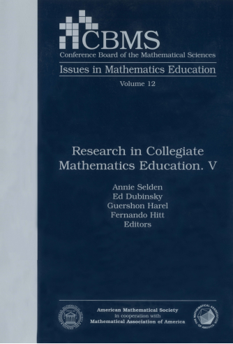 Research in Collegiate Mathematics Education. V cover image