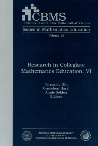 Research in Collegiate Mathematics Education. VI cover image