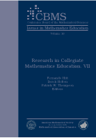 Research in Collegiate Mathematics Education. VII