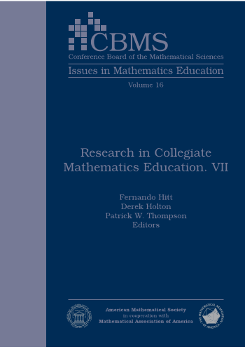 Research in Collegiate Mathematics Education. VII cover image