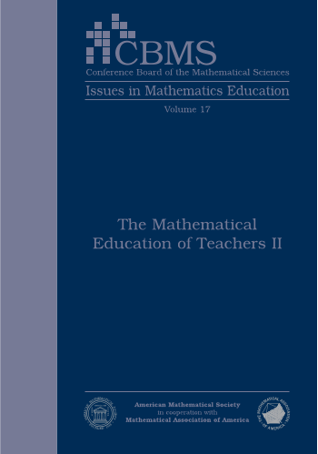 The Mathematical Education of Teachers II cover image