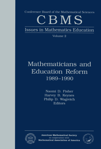 Mathematicians and Education Reform 1989-1990 cover image