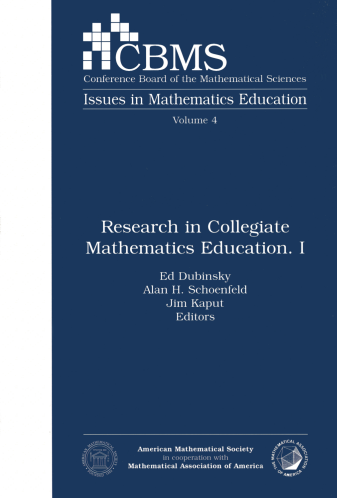 Research in Collegiate Mathematics Education. I cover image