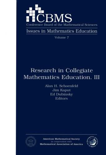Research in Collegiate Mathematics Education. III cover image