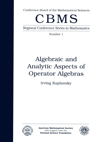 Algebraic and Analytic Aspects of Operator Algebras cover image