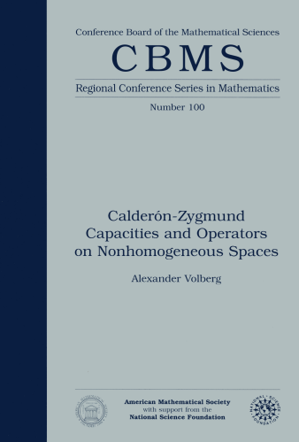 Calderon-Zygmund Capacities and Operators on Nonhomogeneous Spaces cover image