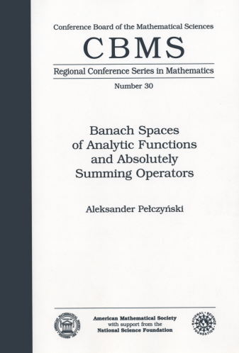 Banach Spaces of Analytic Functions and Absolutely Summing Operators cover image