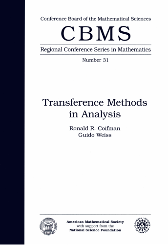 Transference Methods in Analysis cover image