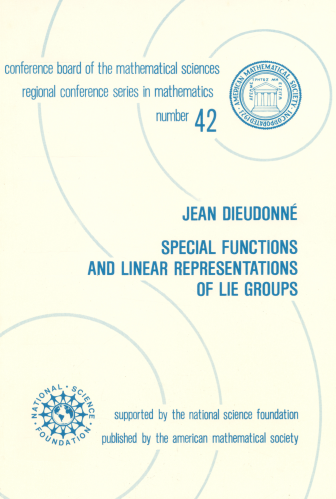 Special Functions and Linear Representations of Lie Groups cover image