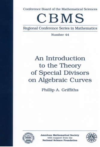 An Introduction to the Theory of Special Divisors on Algebraic Curves cover image