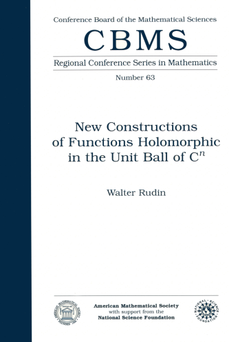 New Constructions of Functions Holomorphic in the Unit Ball of $C^{n}$ cover image