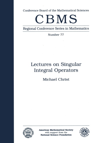 Lectures on Singular Integral Operators cover image