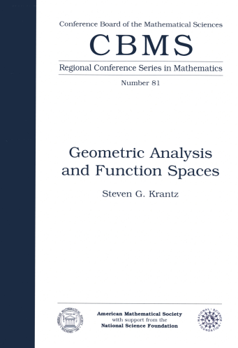 Geometric Analysis and Function Spaces cover image