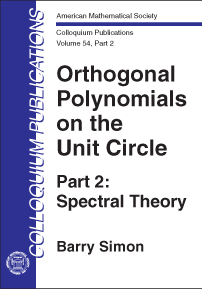 Orthogonal Polynomials on the Unit Circle: Part 2: Spectral Theory cover image