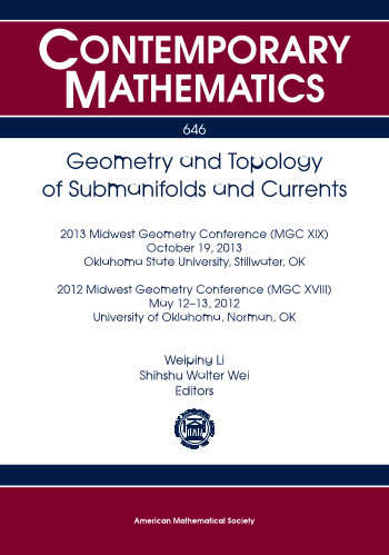 Geometry and Topology of Submanifolds and Currents cover image
