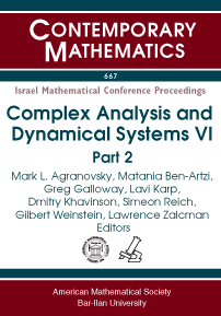 Complex Analysis and Dynamical Systems VI