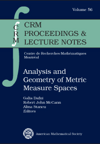 Analysis and Geometry of Metric Measure Spaces: Lecture Notes of the 50th Seminaire de Mathematiques Superieures (SMS), Montreal, 2011 cover image