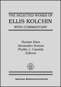 Selected Works of Ellis Kolchin with Commentary cover image
