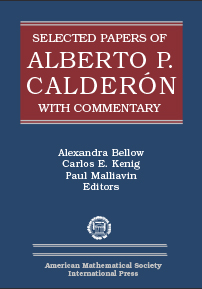 Selected Papers of Alberto P. Calderon with Commentary cover image