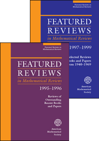 Featured Reviews in Mathematical Reviews Set 1995-1999 cover image