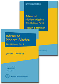 Advanced Modern Algebra: Third Edition, Parts 1 and 2 cover image