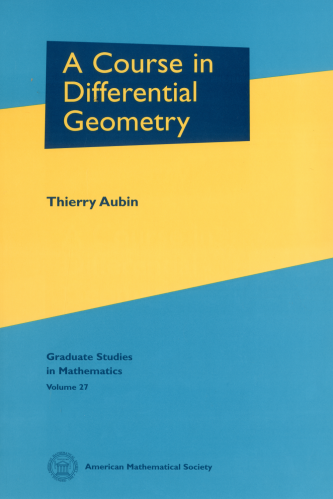 A Course in Differential Geometry cover image