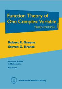 Function Theory of One Complex Variable: Third Edition cover image