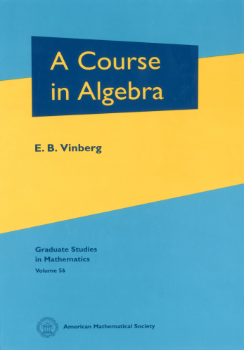 A Course in Algebra cover image
