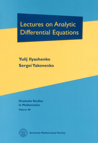 Lectures on Analytic Differential Equations cover image