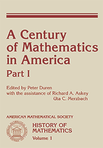 A Century of Mathematics in America: Part 1 cover image