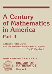 A Century of Mathematics in America: Part 2 cover image