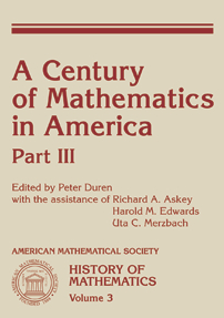 A Century of Mathematics in America: Part 3 cover image