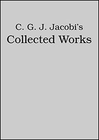 C. G. J. Jacobi's Collected Works, 8 Volume Set cover image