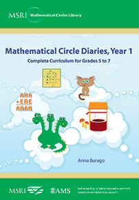 Mathematical Circle Diaries, Year 1: Complete Curriculum for Grades 5 to 7 cover image