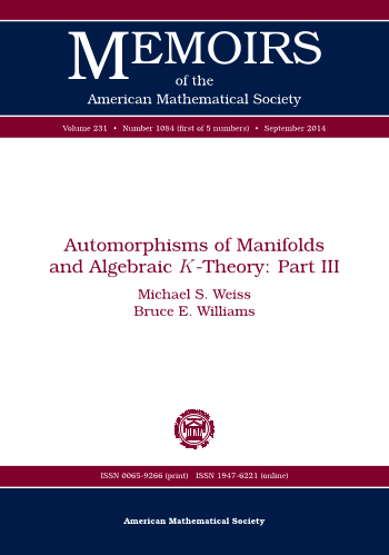 Automorphisms of Manifolds and Algebraic $K$-Theory: Part III cover image