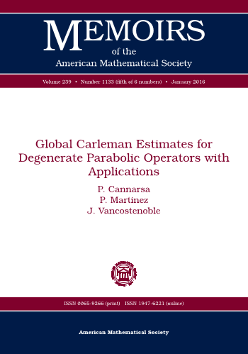 Global Carleman Estimates for Degenerate Parabolic Operators with Applications cover image