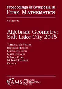 Algebraic Geometry: Salt Lake City 2015 (Parts 1 and 2) cover image