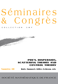 PDEs, Dispersion, Scattering Theory and Control Theory cover image