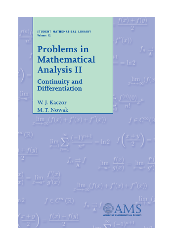 Problems in Mathematical Analysis II: Continuity and Differentiation cover image