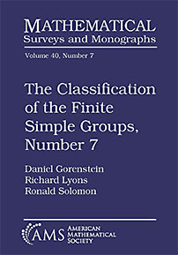 The Classification of the Finite Simple Groups, Number 7: Part III, Chapters 7-11: The Generic Case, Stages 3b and 4a cover image