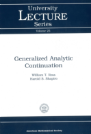 Generalized Analytic Continuation