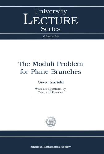 The Moduli Problem for Plane Branches cover image