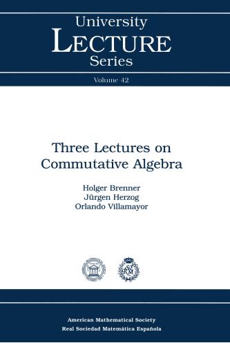Three Lectures on Commutative Algebra cover image