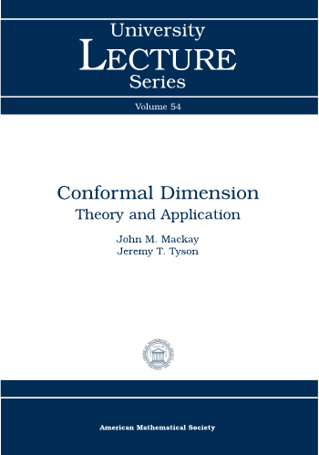 Conformal Dimension: Theory and Application cover image