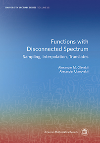 Functions with Disconnected Spectrum: Sampling, Interpolation, Translates cover image